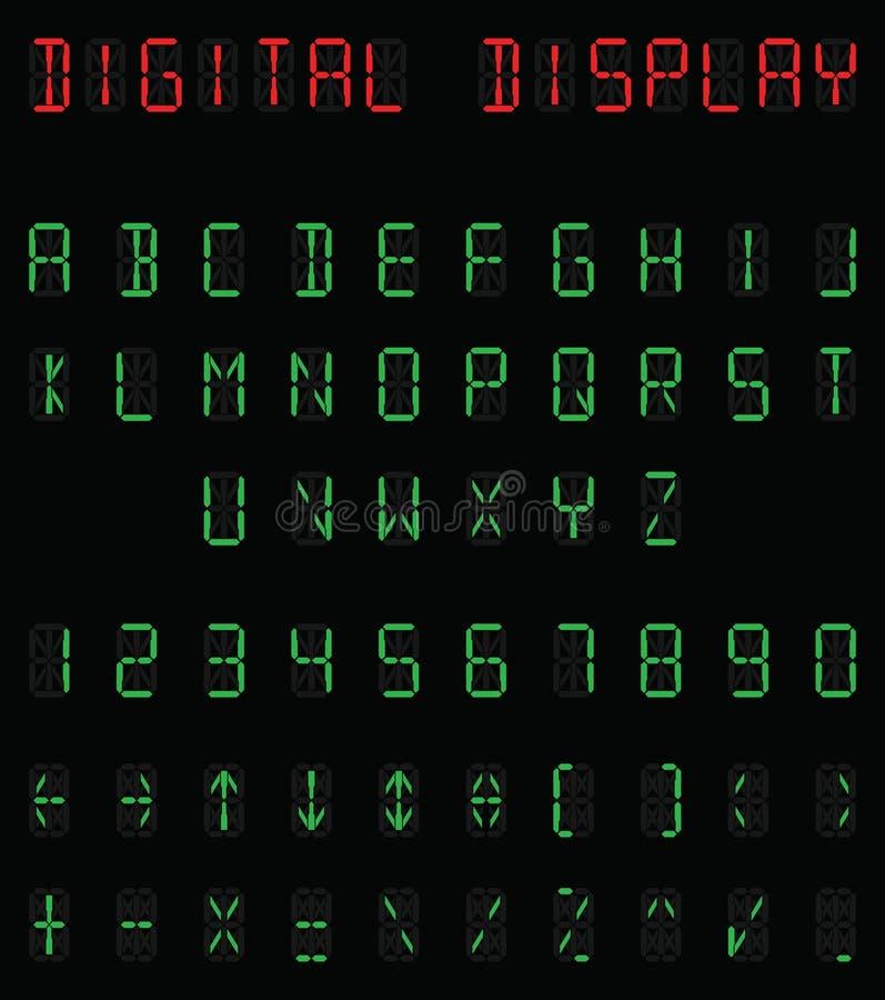 Digitaal alfabet royalty-vrije illustratie