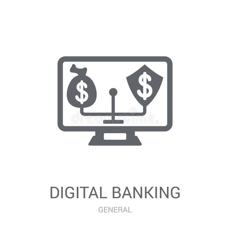 digitaal bankwezenpictogram  vector illustratie