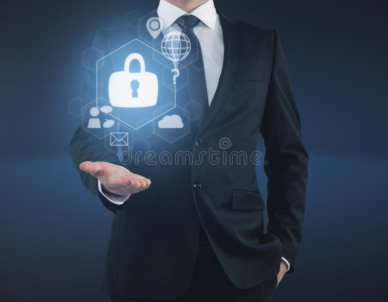 Digitaal bedrijfsveiligheidsconcept stock fotografie