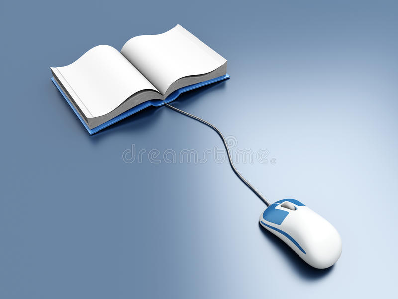 Digitaal Boek vector illustratie