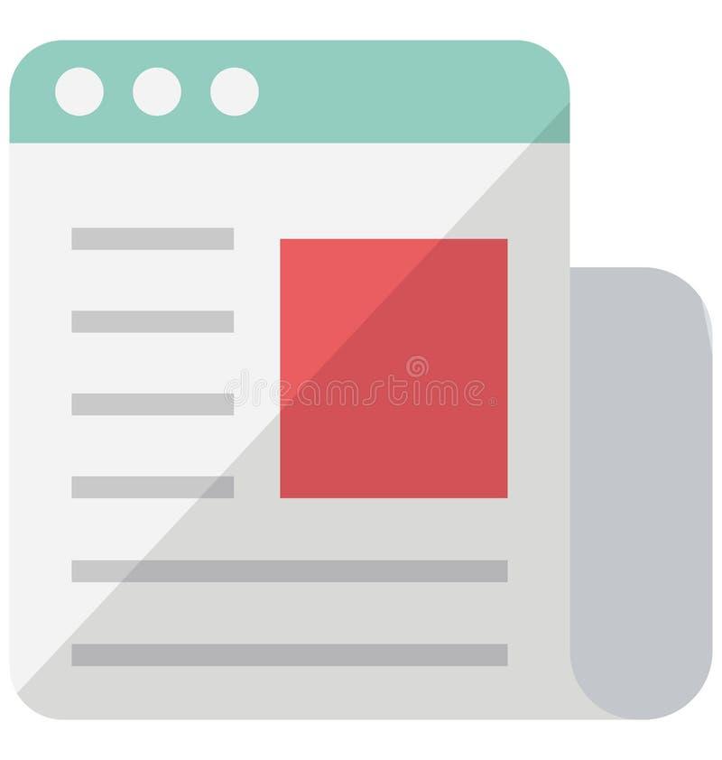 Digitaal bulletin Vectorpictogram dat zich gemakkelijk kan wijzigen of uitgeven stock illustratie
