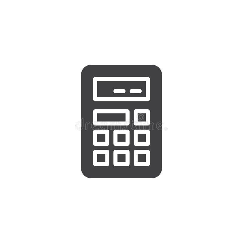 Digitaal calculator vectorpictogram vector illustratie
