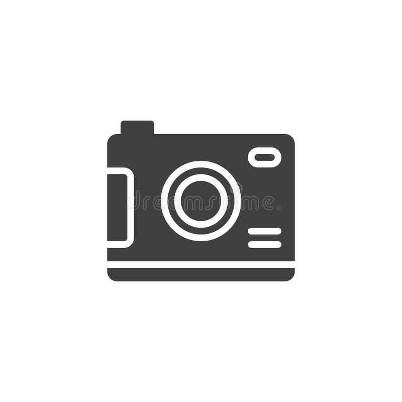 Digitaal camera vectorpictogram stock illustratie