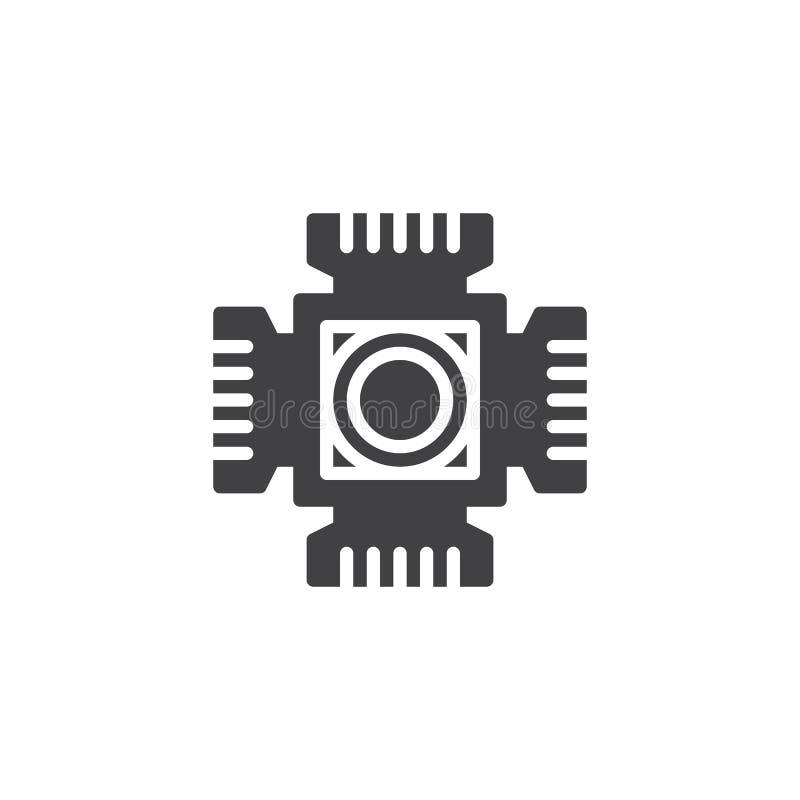 Digitaal cameracmos vectorpictogram vector illustratie