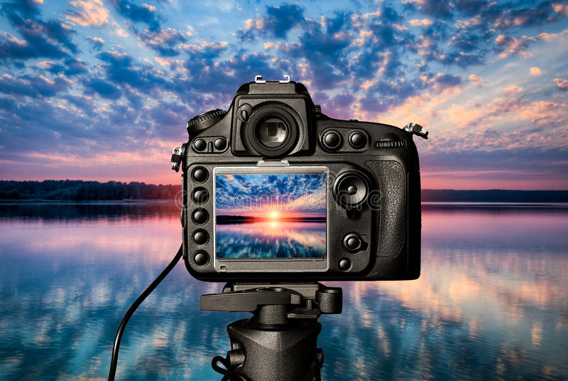 Digitaal cameraconcept stock afbeeldingen