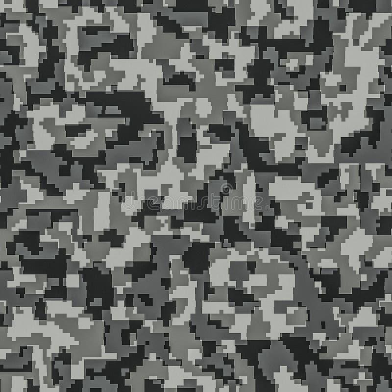 Digitaal camouflage naadloos patroon als achtergrond stock illustratie