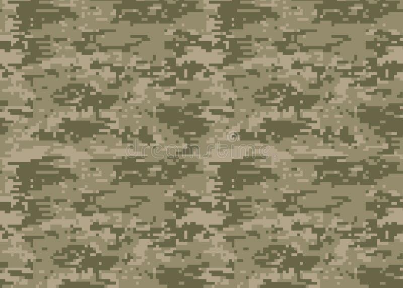 Digitaal camouflagepatroon Boscamotextuur Camouflage p vector illustratie