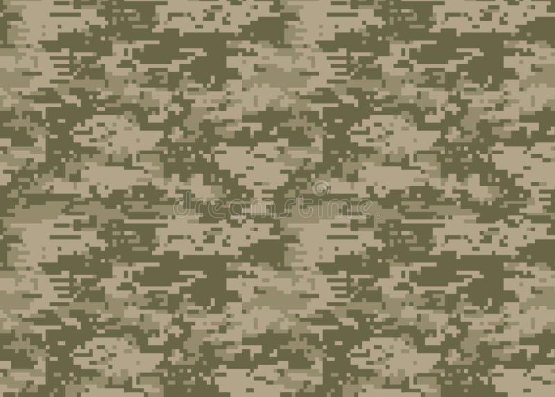 Digitaal camouflagepatroon Boscamotextuur Camouflage p stock illustratie
