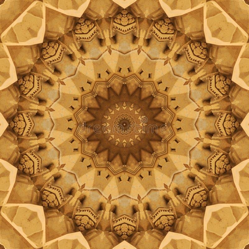 Digitaal die kunstontwerp, patroon met zandbouw wordt gemaakt royalty-vrije illustratie