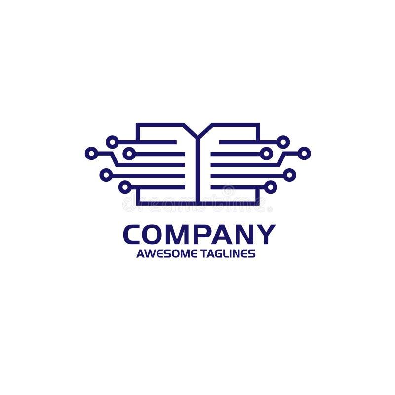Digitaal document, het digitale concept van het boekembleem vector illustratie
