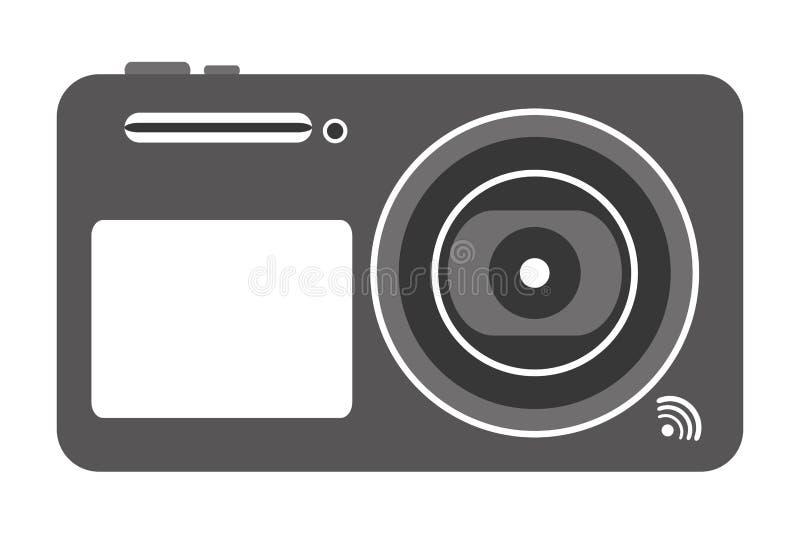 digitaal fotografisch camerapictogram royalty-vrije illustratie