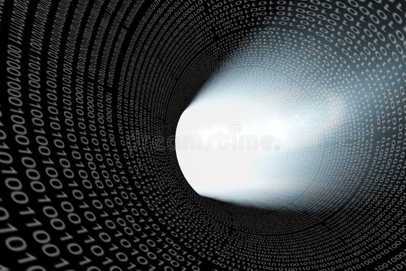 Digitaal gat stock illustratie