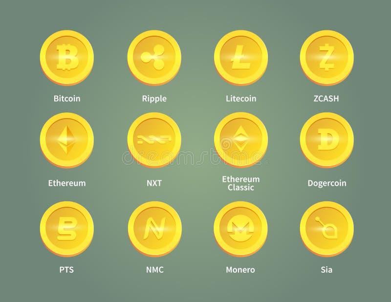Digitaal geld royalty-vrije illustratie