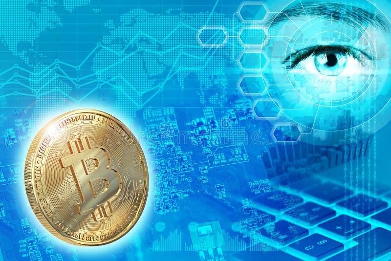 Digitaal geld en cryptocurrency abstract concept vector illustratie