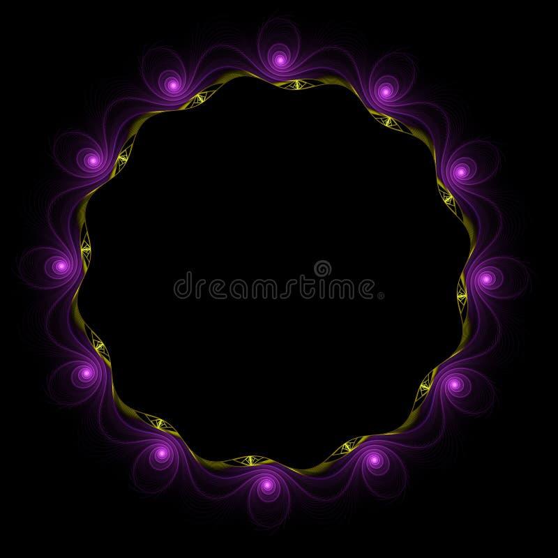 Digitaal geproduceerd beeld Kleurrijke fractal, elegante, gevoelige bloem om kader royalty-vrije stock foto