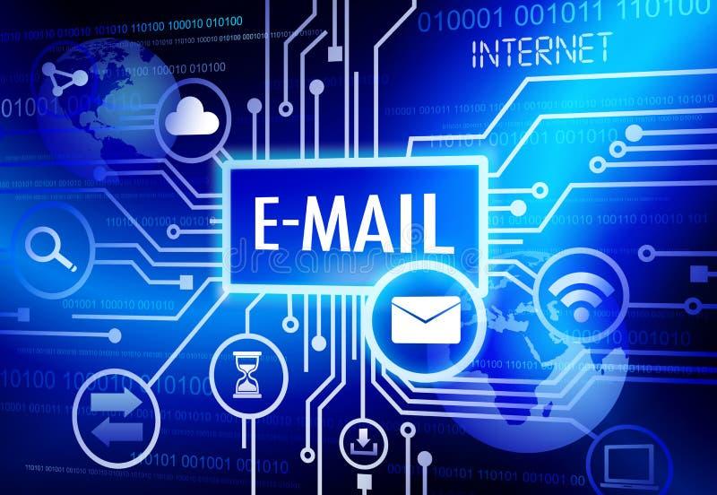Digitaal Geproduceerd Beeld met Internet e-mail Concept vector illustratie