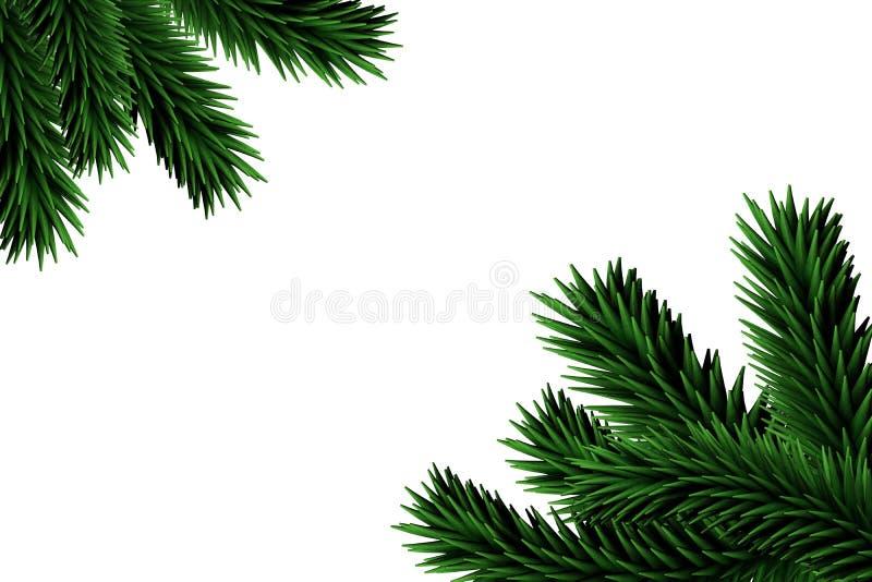 Digitaal geproduceerde sparrentakken vector illustratie