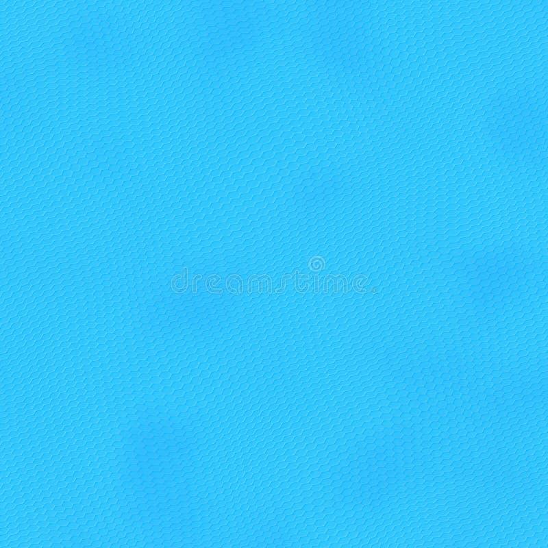 Digitaal hexagon pixelmozaïek, cyaan, blauwe kleur stock illustratie