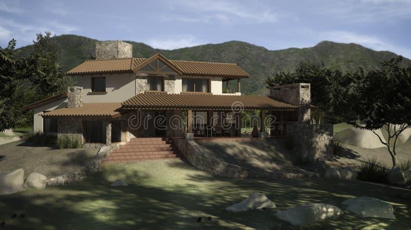 digitaal huis stock illustratie illustratie bestaande uit