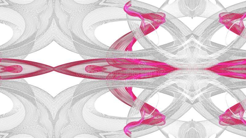 Digitaal kunst abstract grijs en rood ontwerp op witte achtergrond royalty-vrije illustratie