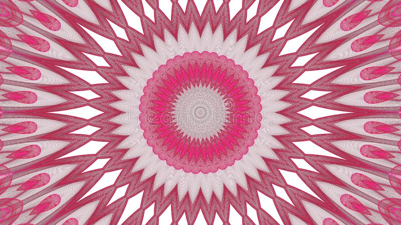 Digitaal kunst abstract grijs en rood ontwerp op witte achtergrond stock illustratie