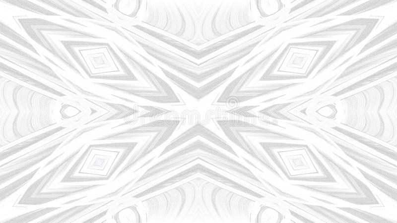 Digitaal kunst abstract grijs ontwerp op witte achtergrond stock illustratie