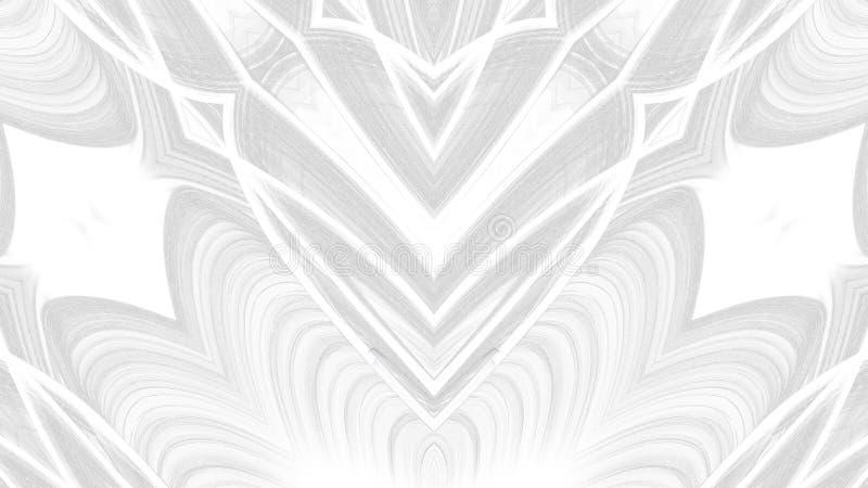Digitaal kunst abstract grijs ontwerp op witte achtergrond royalty-vrije illustratie