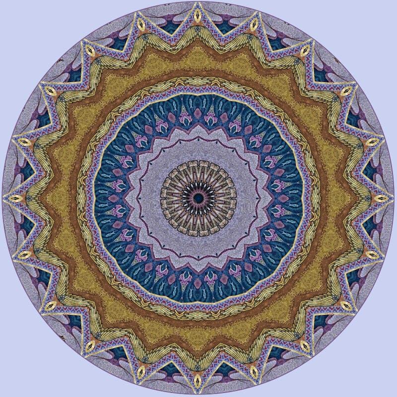 Digitaal kunstontwerp, de kleurrijke gouden ster van het mozaïekpatroon iwith vector illustratie