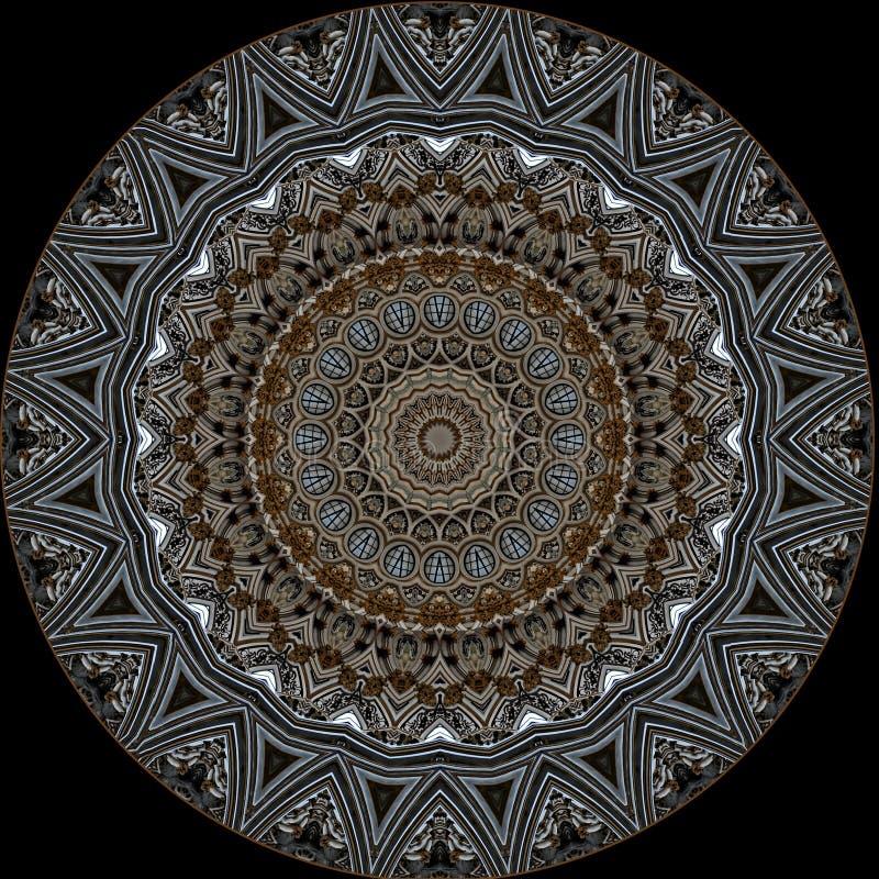 Digitaal kunstontwerp Filigraan oosters patroon royalty-vrije illustratie