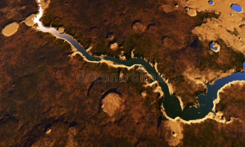 Digitaal Landschap vector illustratie