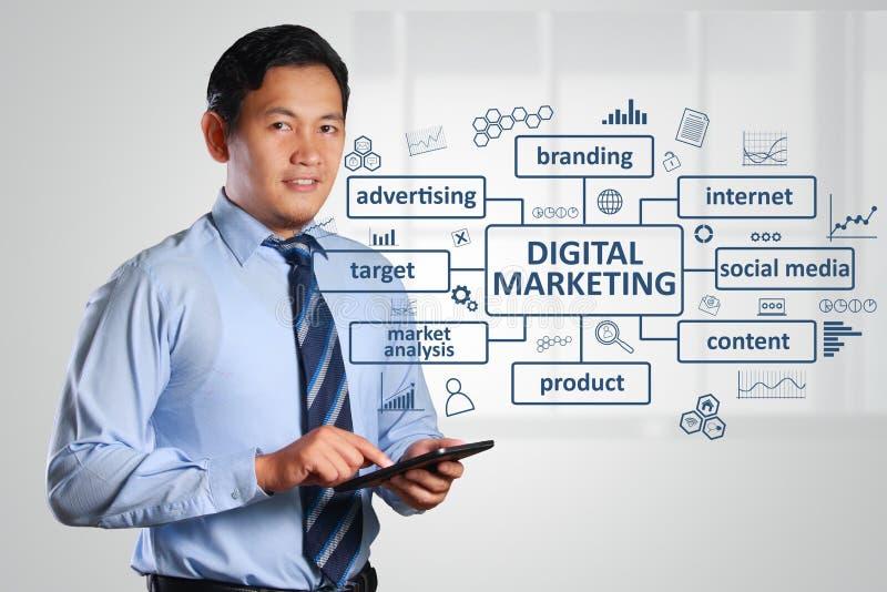 Digitaal marketing bedrijfsconcept royalty-vrije stock fotografie