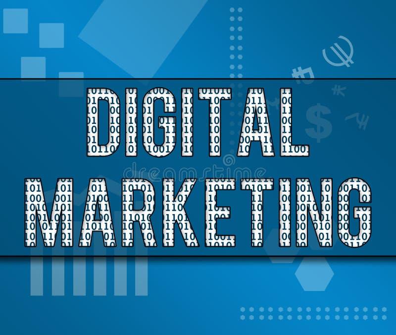 Digitaal Marketing Binair Bedrijfsthema royalty-vrije illustratie