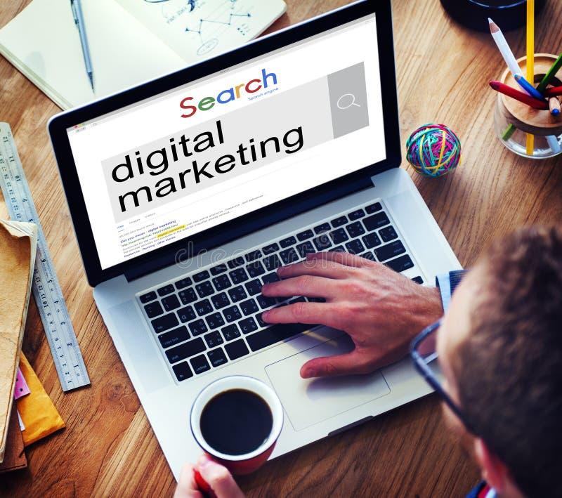 Digitaal Marketing Commercieel Reclame Sociaal Concept stock foto