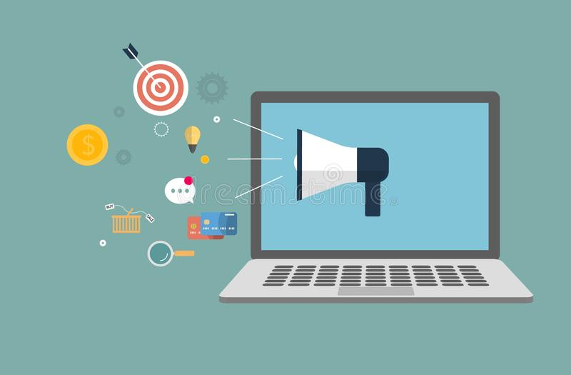 Digitaal marketing concept stock illustratie