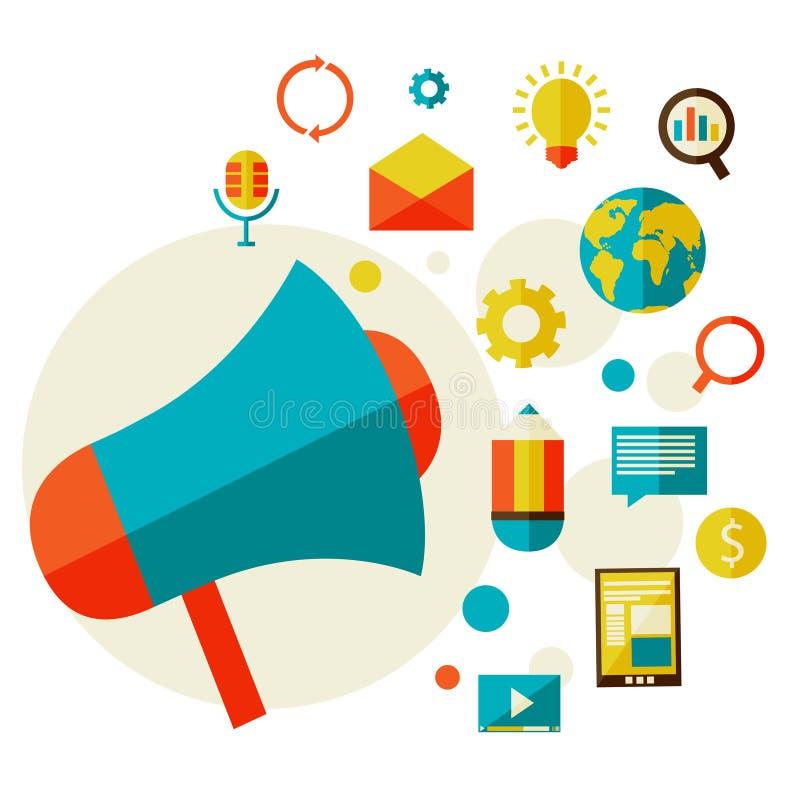 Digitaal marketing concept vector illustratie