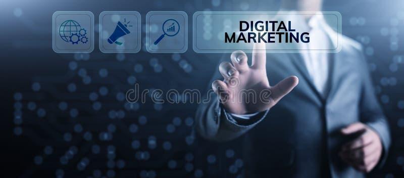 Digitaal marketing Internet reclame en verkoopverhoging bedrijfstechnologieconcept vector illustratie