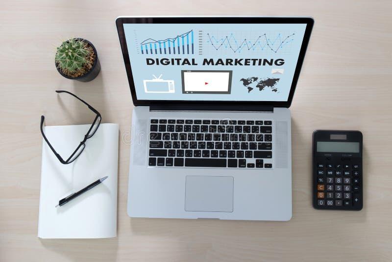 DIGITAAL MARKETING nieuw startproject, markt Interactieve chan royalty-vrije stock foto
