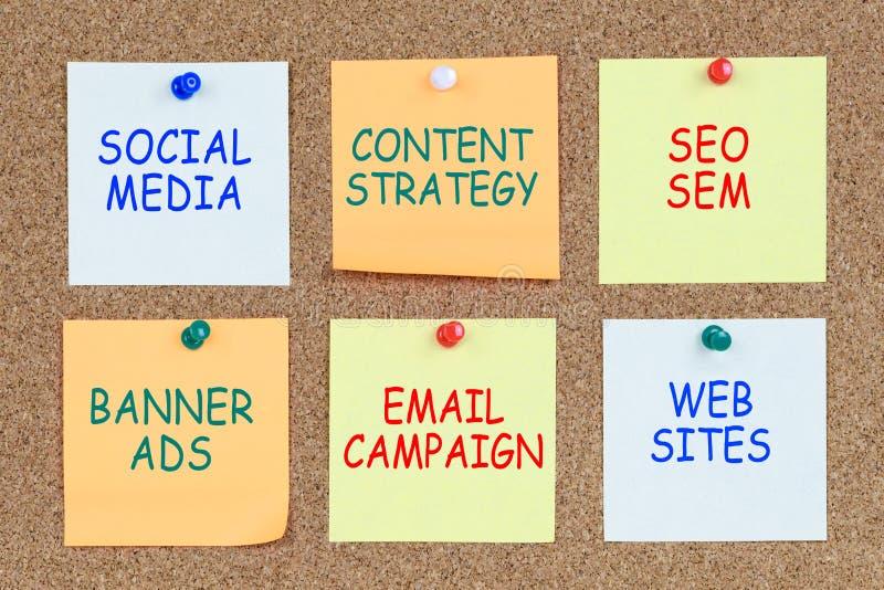 Digitaal marketing plan stock afbeeldingen