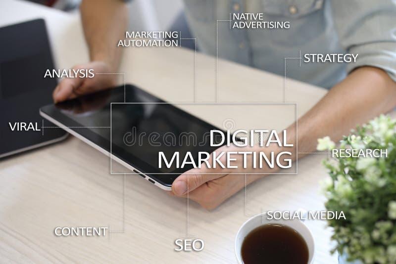 Download Digitaal Marketing Technologieconcept Internet Online Zoekmachineoptimalisering SEO SMM Reclame Stock Illustratie - Illustratie bestaande uit markt, digitaal: 114225012
