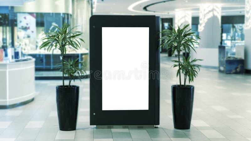 Digitaal media leeg zwart-wit het scherm modern paneel stock fotografie