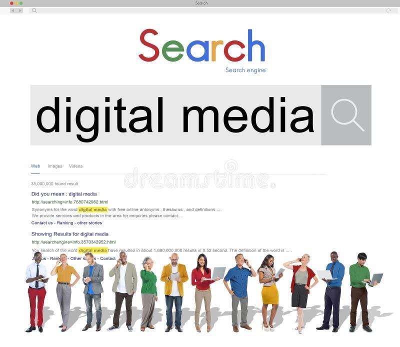 Digitaal Media Netwerktechnologieconcept Van verschillende media royalty-vrije stock afbeeldingen