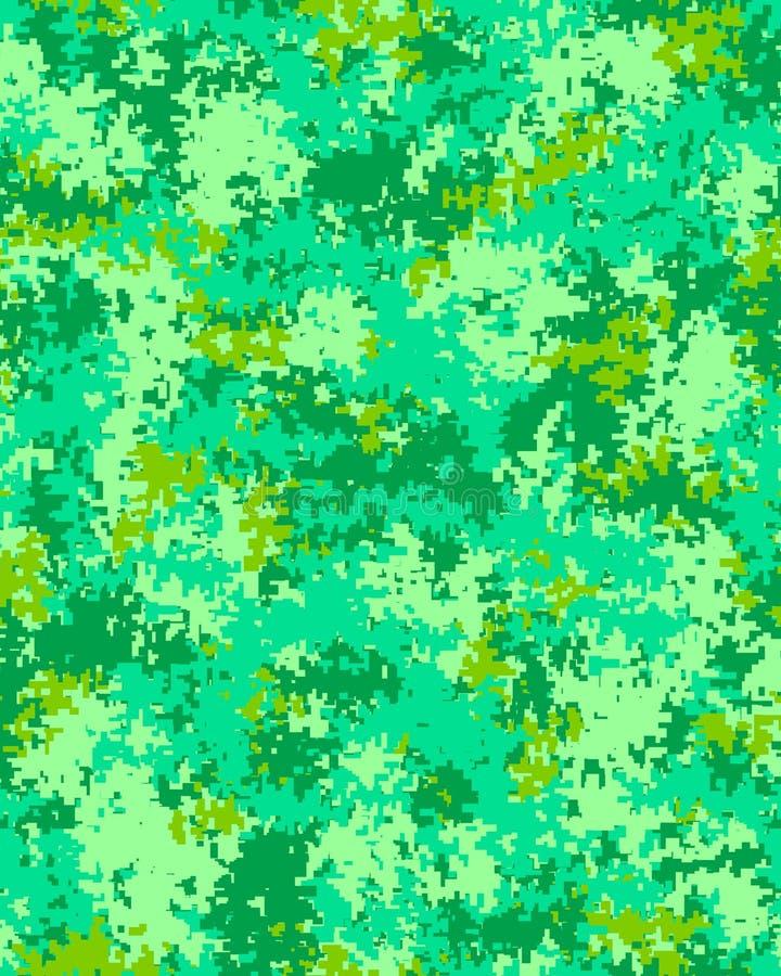Digitaal modieus camouflagepatroon stock illustratie