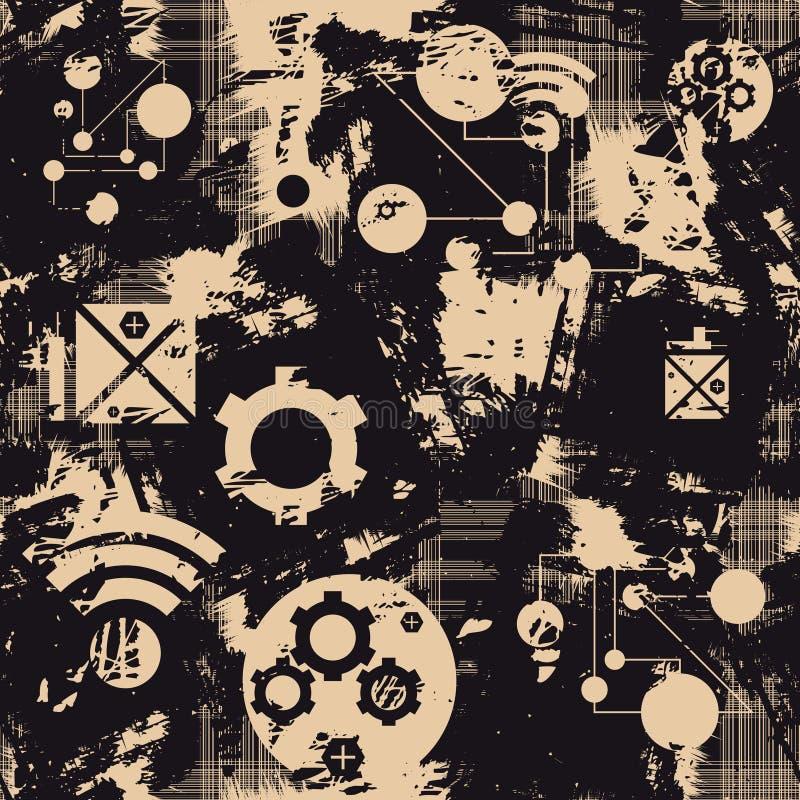 Digitaal naadloos patroon Vector vector illustratie