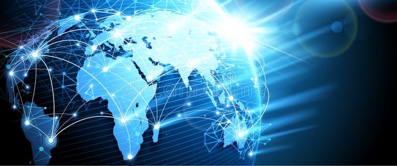 Digitaal netwerk Vector royalty-vrije illustratie