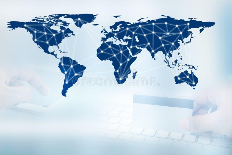 Download Digitaal Netwerklijn En Cirkels, Bedrijfstechnologieconcept Stock Foto - Afbeelding bestaande uit succes, zaken: 107704446