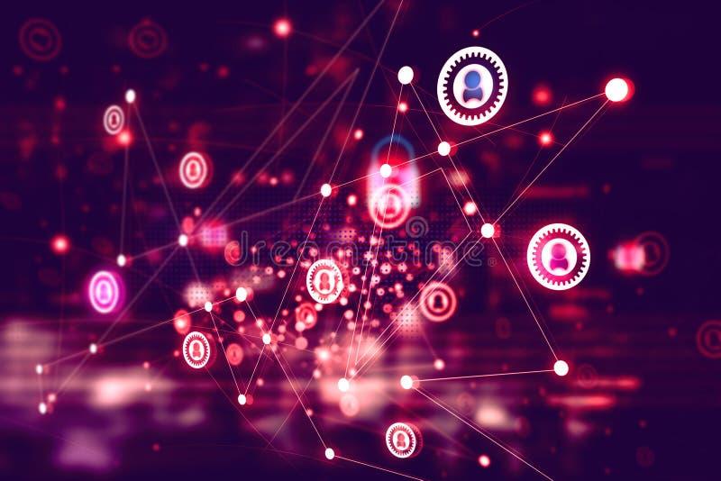 Digitaal netwerktechnologie stock illustratie