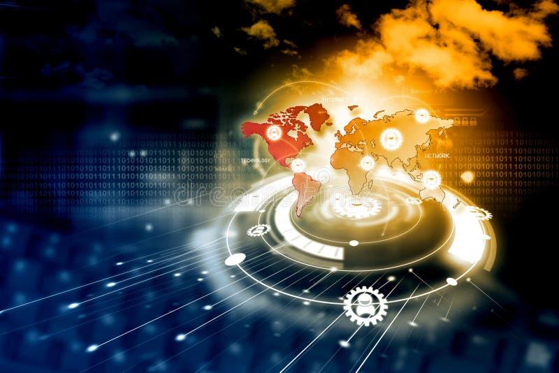 Digitaal netwerktechnologie vector illustratie