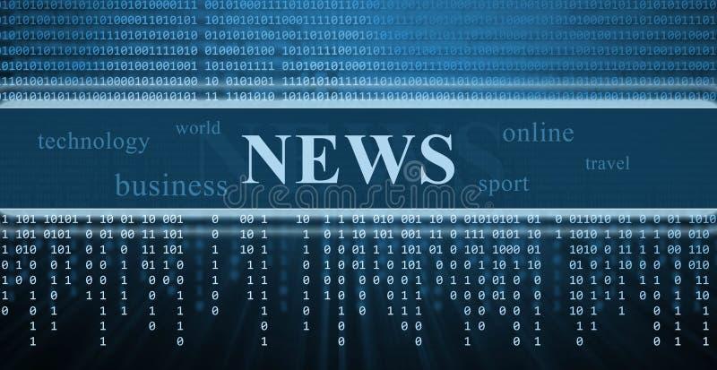 Digitaal nieuws stock illustratie
