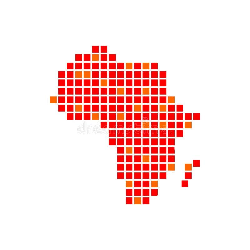 Digitaal Ontwerp van het de Pixelsymbool van Afrika het Rode stock illustratie