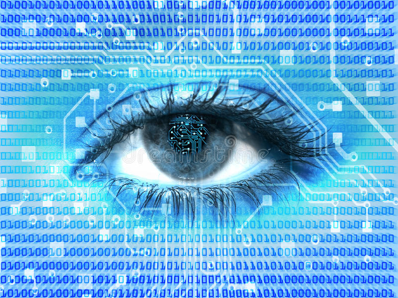 Digitaal oog stock illustratie